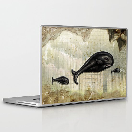 paper II :: whales/ships Laptop & iPad Skin