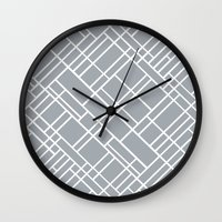 Map Outline Grey 45  Wall Clock