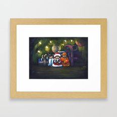 Merry Christmas World Framed Art Print