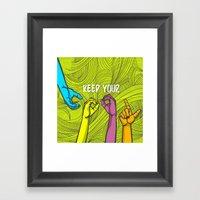 Keep Cool Framed Art Print