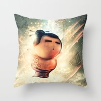 Rise of Sumo Throw Pillow