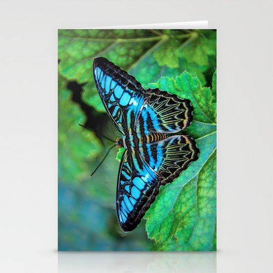 BUTTERFLY BLUE Stationery Card