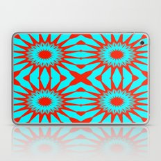 Turquoise & Red Flowers Laptop & iPad Skin