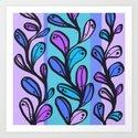 Chloe - Lavender Art Print