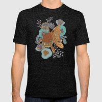 Little Fish Mens Fitted Tee Tri-Black SMALL