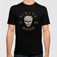 Pirate Moon Mens Fitted Tee Black SMALL