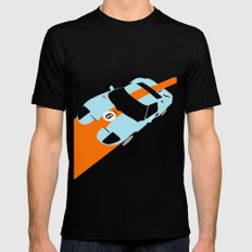 Orange Notch - Ford GT40 Race Car SMALL Black Mens Fitted Tee