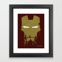 Iron Dirty Man Framed Art Print