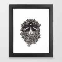 A Lady and her Skulls (Please give feedback) Framed Art Print