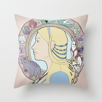 Alice In Wonderland Art … Throw Pillow