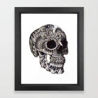 Ornate Skull Framed Art Print