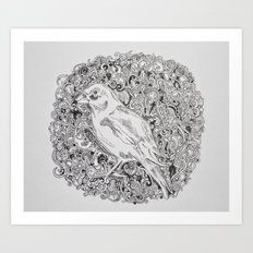 Rococo GreenFinch Sphere Art Print