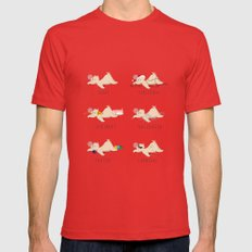 A sloth's life Mens Fitted Tee Red SMALL