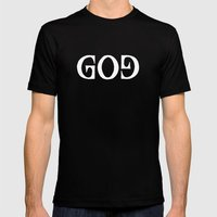 GOD - Ambigram series (Black) Mens Fitted Tee Black SMALL