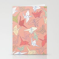 Paper Cranes- Peach Stationery Cards