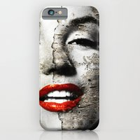 iPhone & iPod Case featuring Marilyn Monroe - Wall painting by Tobia Crivellari