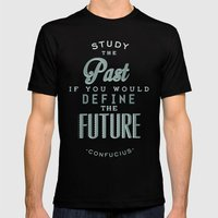 Study The Past... Mens Fitted Tee Black SMALL
