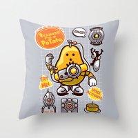 Mrs. Potato GLADos Throw Pillow