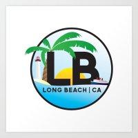 Long Beach CA Logo Desig… Art Print