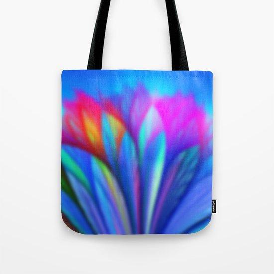 Flower Fantasy in Blue Tote Bag