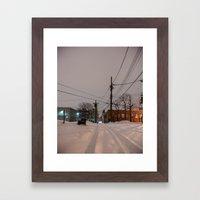 White Trails Framed Art Print