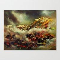 Der Himmel nach der Erde zu erreichen .. Canvas Print