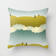 skies Throw Pillow