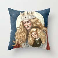 The Golden King and his Treasure Throw Pillow