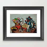 Still Life In Cubism Framed Art Print