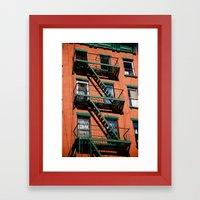 Red & Green Framed Art Print