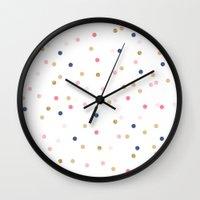Round Confetti Pattern Wall Clock