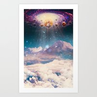 Descending worlds Art Print