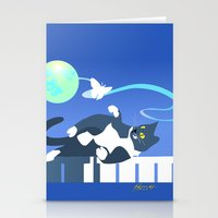 Jack Cat and the Moth Stationery Cards