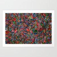 brain Art Prints featuring Brain by C Z A V E L L E