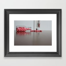Heart Drops Framed Art Print