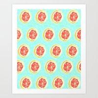 Grapefruit II Art Print