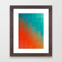 Beach Pixel Surface Framed Art Print