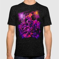 BASEMENT LOBOTOMY Mens Fitted Tee Tri-Black SMALL