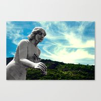 Sky/Statue#3 Canvas Print