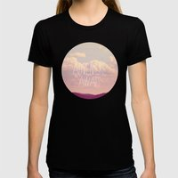 Adventure Awaits  Womens Fitted Tee Black SMALL