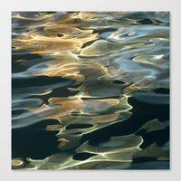 Water / H2O #42 (Water Abstract) Canvas Print