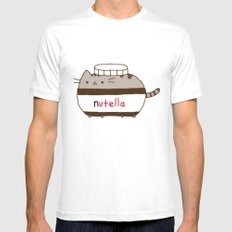 Nutella Cat Mens Fitted Tee White SMALL