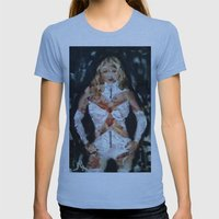 EMMA FROST Womens Fitted Tee Athletic Blue SMALL