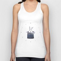 Mr. Rabbit and the Mad Hatter hat Unisex Tank Top