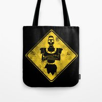 Dragon's Lair Warning Si… Tote Bag