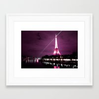 Paris In Oil Framed Art Print