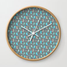 Blue Cowgirl Boots For The Modern Cowgirl Wall Clock