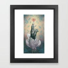 Reach your heart Framed Art Print