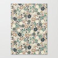 Flourishing Florals (Light-Green) Canvas Print