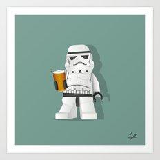 Trooper Beer Art Print